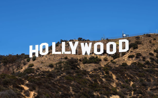 Hollywood sign represents indie movies, indie films, indie flicks